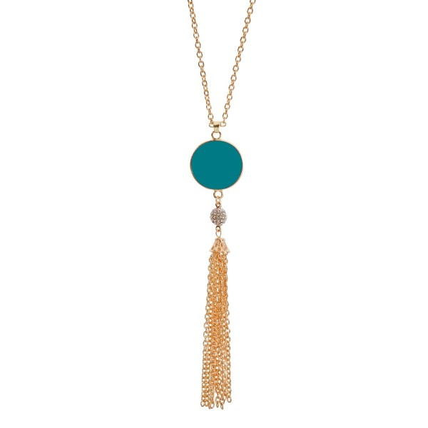 Wholesale gold necklace turquoise disc designed specifically vinyl monograms cle