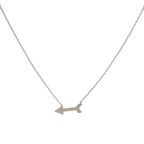 Wholesale dainty silver necklace arrow pendant