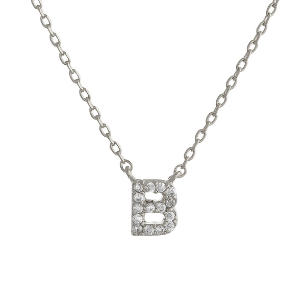 """Gold dipped necklace with initial """"B"""" pendant. Approximate 20"""" in length with 0.5"""" pendant."""