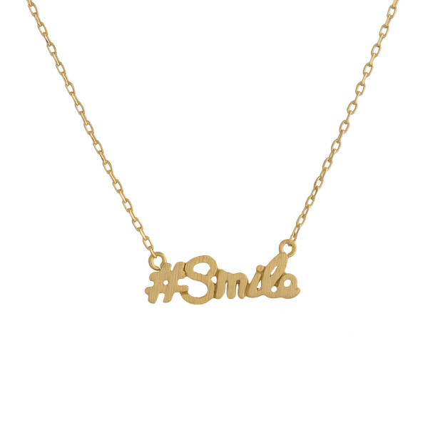 Wholesale metal necklace small Smile pendant Approximate pendant