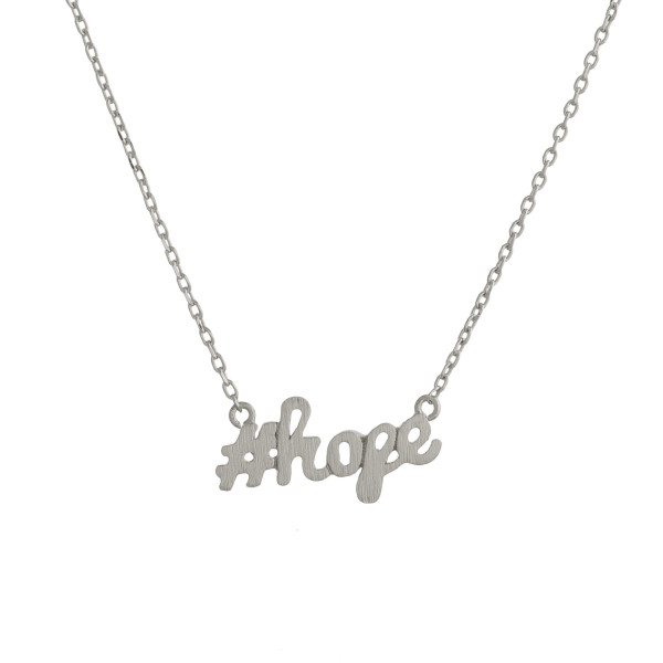 Wholesale metal necklace small hope pendant Approximate pendant