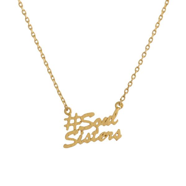 Wholesale metal necklace small SoulSisters pendant Approximate pendant
