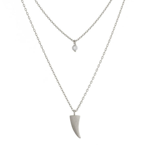 """Gold dipped layered necklace with small tribal pendants. Approximate 20"""" in length."""