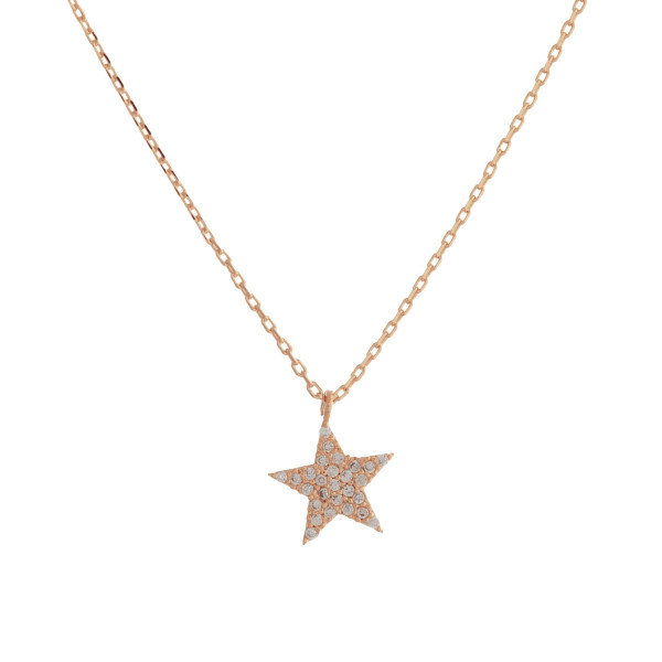 "Rhinestone encased star necklace. Pendant approximately 1cm in diameter. Approximately 18"" in length overall."