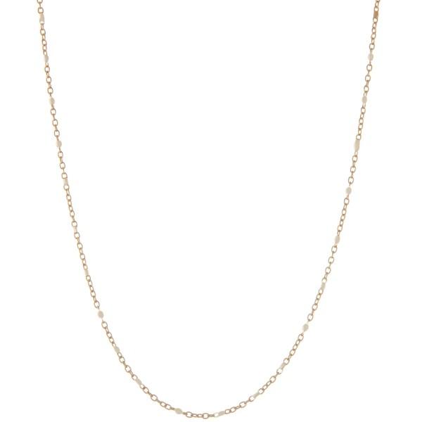 "Dainty enamel coated dot necklace.  - Approximately 16"" L - 2.5"" extender"