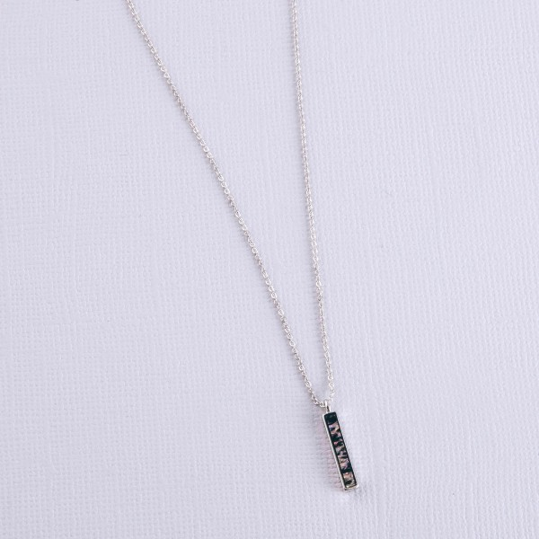 """Genuine Abalone vertical bar necklace.  - Pendant approximately .75"""" - Approximately 18"""" L  - 3"""" extender"""