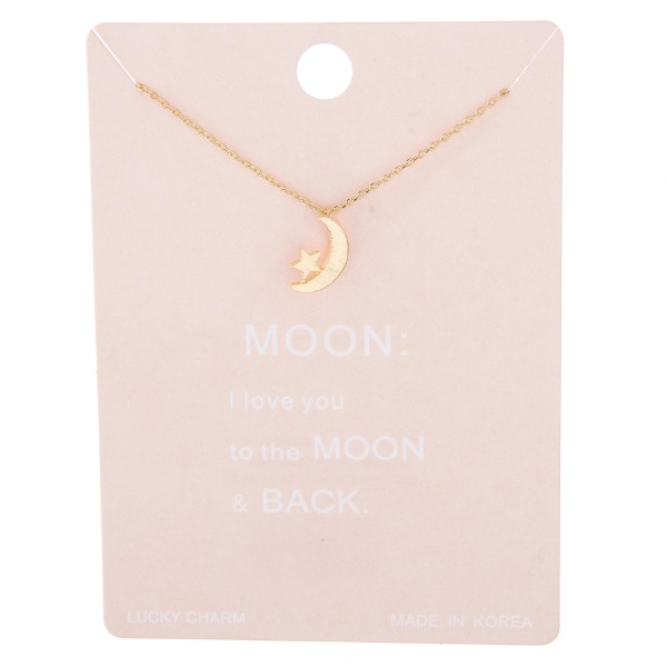 """Dainty star nested moon lucky charm necklace.  - Pendant approximately 1cm in diameter - Approximately 15"""" L with 2"""" extender"""