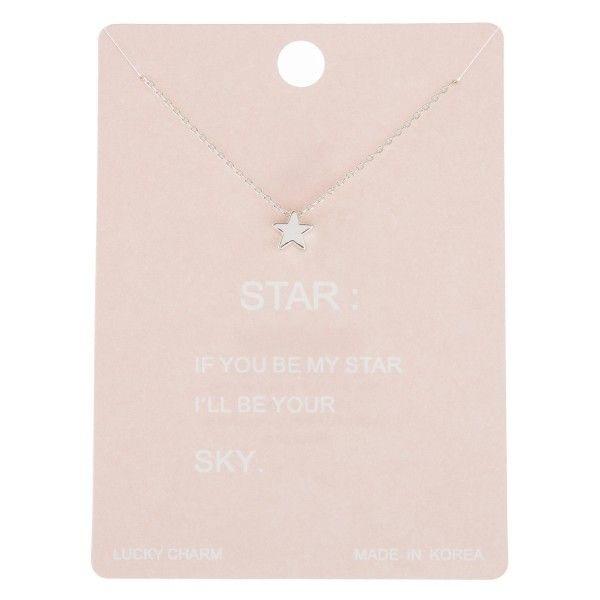 """Dainty star lucky charm necklace.  - Pendant approximately 5mm - Approximately 16"""" in length with 2"""" extender"""