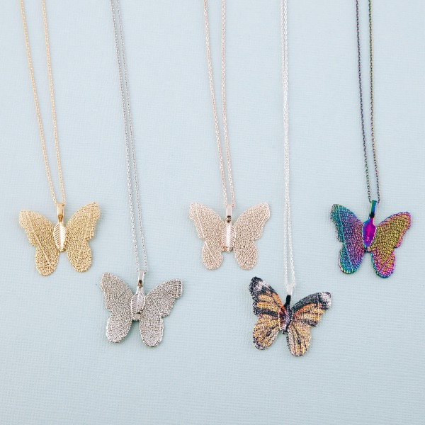 """Gold dipped filigree butterfly pendant necklace.  - Pendant approximately 1""""  - Approximately 18"""" L  - 2"""" extender"""