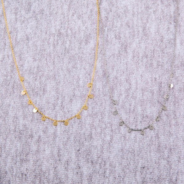 "Dainty Gold Dipped Drip Necklace.  - Approximately 15"" Long  - 2"" Adjustable Extender"