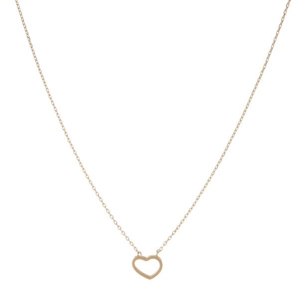 "Gold dipped open heart collar necklace.  - Pendant approximately 1cm  - Approximately 14"" in length with 1"" extender"