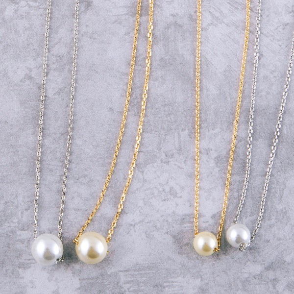 "Gold Dipped Pearl Collar Necklace.  - Pearl 5.5mm - Approximately 14"" Long  - 1"" Adjustable Extender"