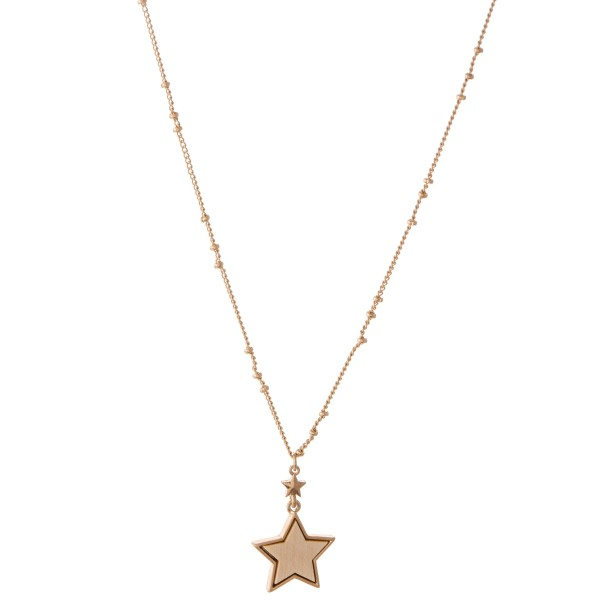 Wholesale wood Star Pendant Necklace Pendant L Adjustable Extender