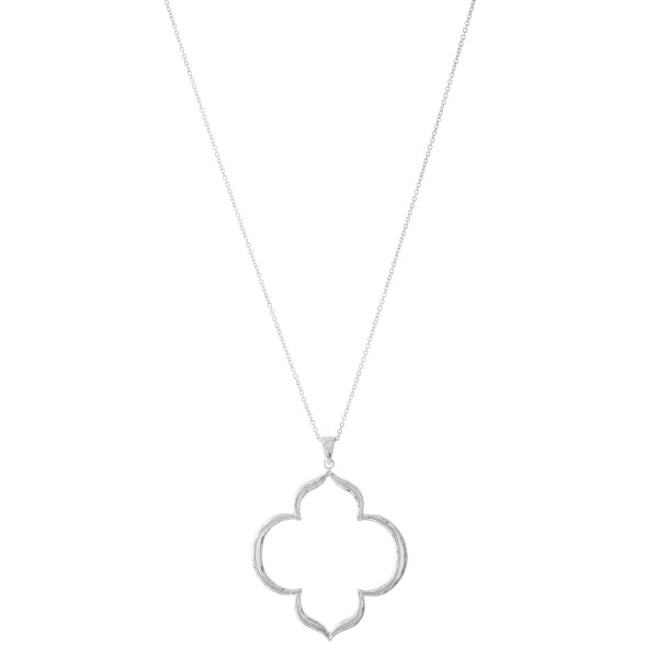 """Long chain necklace featuring a textured pendant.  - Approximately 36"""" L with a 3"""" extender  - Pendant is approximately 2"""" L"""