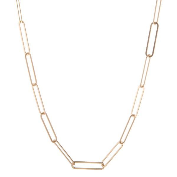 "Long Oversized Hera Link Statement Necklace.  - Approximately 36"" L - 3"" Adjustable Extender"