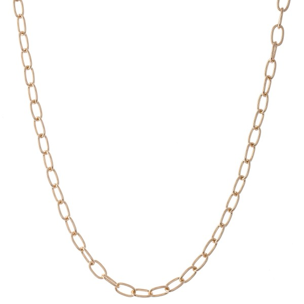"Simple Chain Link Necklace.  - Approximately 18"" L  - 3"" Adjustable Extender"