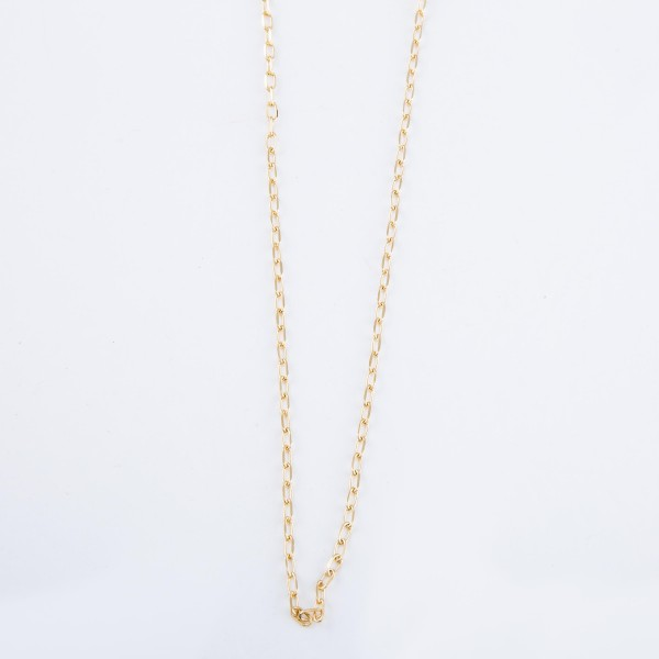 "Simple Brass Chain Necklace.  - Approximately 16"" L - 3"" Adjustable Extender"
