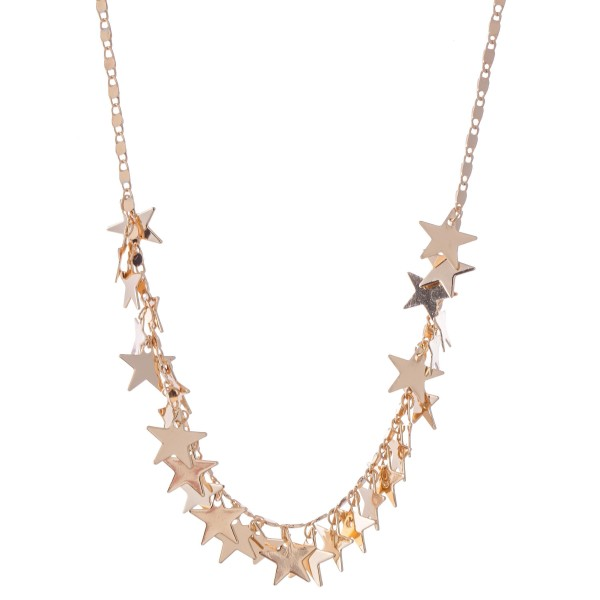 "Star Charm Necklace.  - Approximately 14"" L  - 2"" Adjustable Extender"
