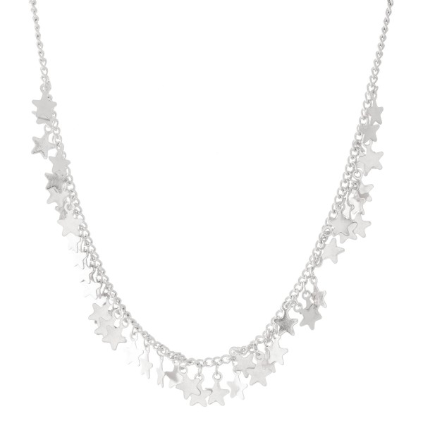 "Star Charm Necklace.  - Approximately 12"" L  - 3"" Adjustable Extender"
