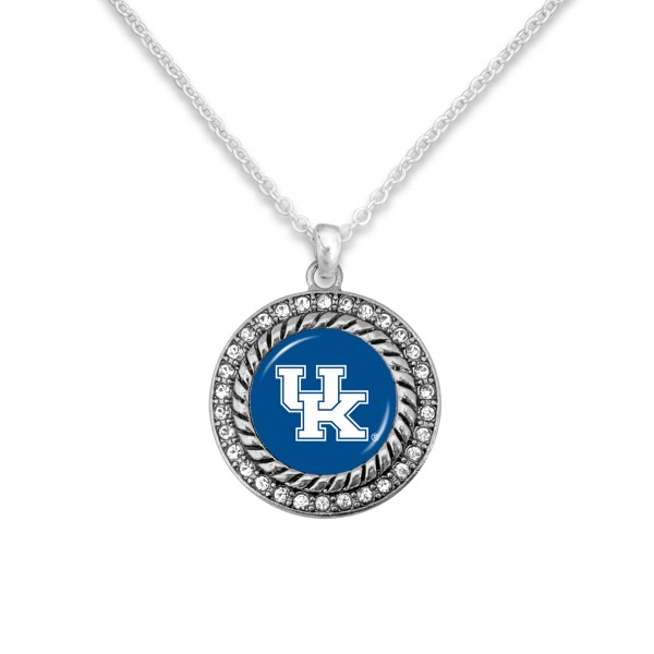 "Kentucky Game Day Pendant Necklace Featuring Rhinestone Accents.  - Pendant 1'  - Approximately 20"" L - 3"" Adjustable Extender"