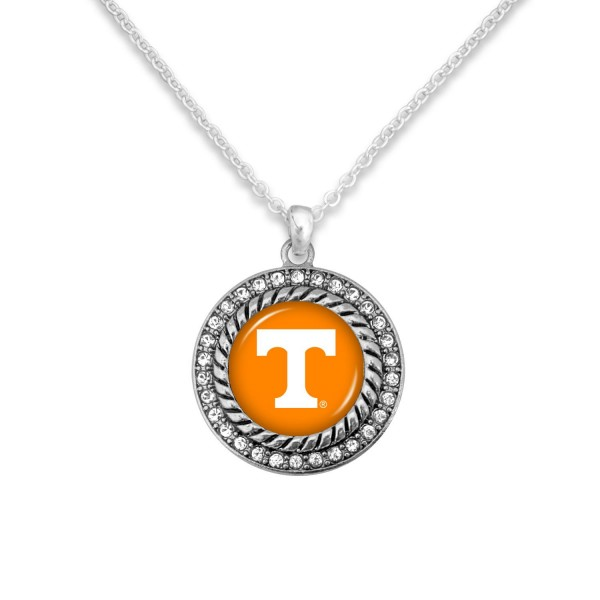 "Tennessee Game Day Pendant Necklace Featuring Rhinestone Accents.  - Pendant 1'  - Approximately 20"" L - 3"" Adjustable Extender"