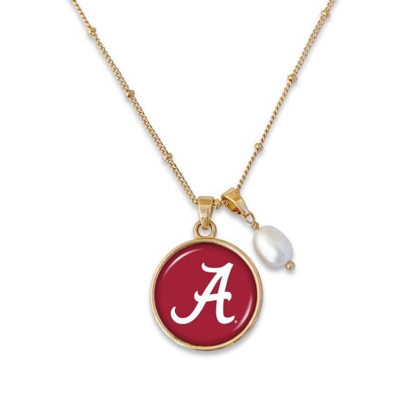 Wholesale alabama Pendant Game Day Necklace Pearl Accent Pendant L Adjustable Ex