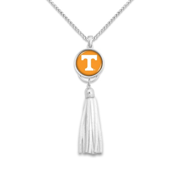 "Tennessee Tassel Pendant Game Day Necklace.  - Pendant 4""  - Approximately 38"" L"