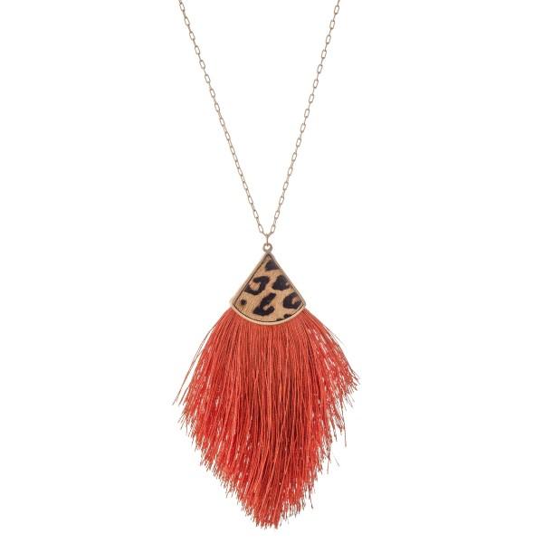 Wholesale long Necklace Genuine Leopard Print Tassel Pendant Pendant L Adjustabl