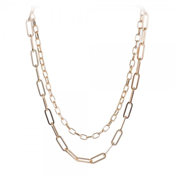 """Chain Link Layered Necklace.  - Approximately 16"""" Long - 3"""" Adjustable Extender"""