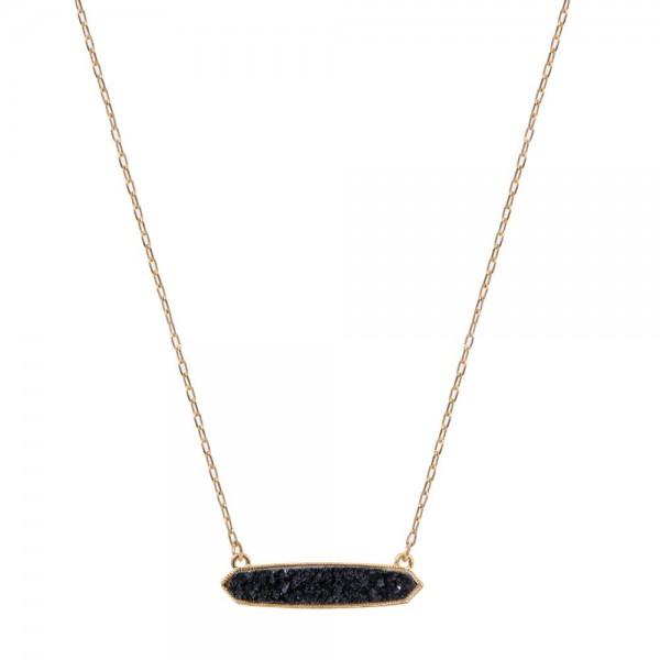 Wholesale druzy Bar Pendant Necklace Pendant Long Adjustable Extender