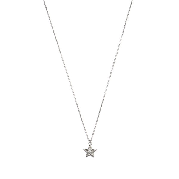 "Tiny Rhinestone Star Pendant Necklace.  - Pendant 1cm - Approximately 16"" in Length - 3"" Adjustable Extender"