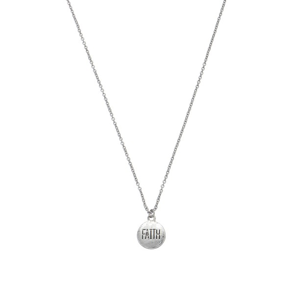 "Inspirational Faith Coin Necklace.  - Pendant 10mm - Approximately 18"" in Length - 2"" Adjustable Extender"