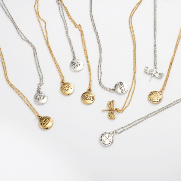 """Cross Coin Pendant Necklace.  - Pendant 10mm - Approximately 18"""" in Length - 2"""" Adjustable Extender"""