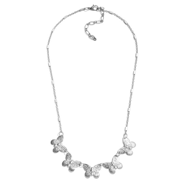 """Metal Link Bar Butterfly Necklace.  - Approximately 16"""" in Length  - 3"""" Adjustable Extender"""
