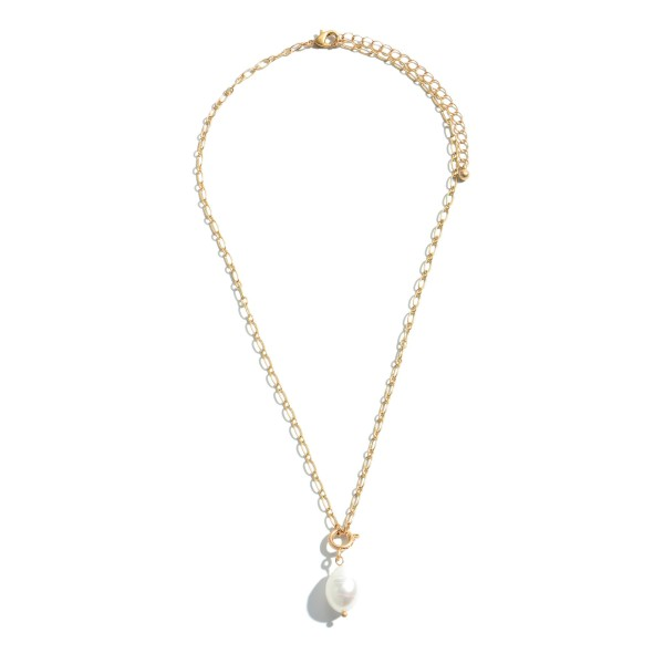 "Baroque Pearl Necklace.  - Pearl 11mm  - Approximately 20"" in Length - 3"" Adjustable Extender"