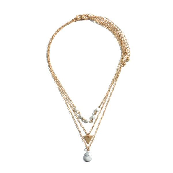 Wholesale pC Semi Precious Necklace Set Necklaces Per Set Adjustable Extender