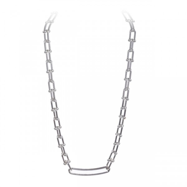 "Metal Chain Link Necklace.   - Approximately 18"" in length  - Adjustable 3"" Extender"