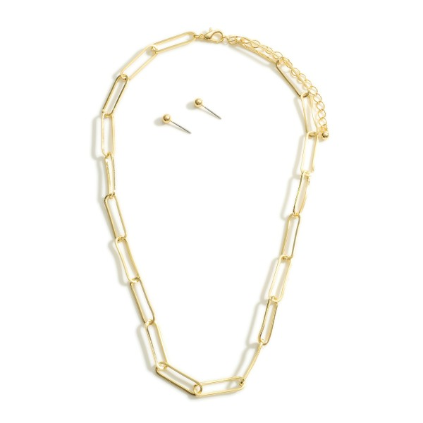 """Short Gold Chain Necklace.   - Approximately 18"""" Long"""