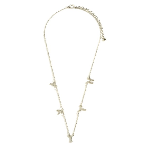 """Faith Necklace featuring CZ Accents.  - Chain 16"""" in Length - Extender 3"""" in Length"""