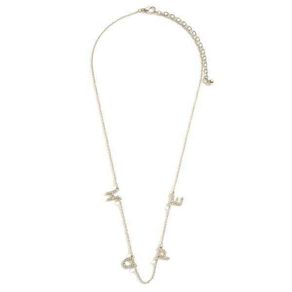 """Hope Necklace featuring CZ Accents.  - Chain 16"""" in Length - Extender 3"""" in Length"""