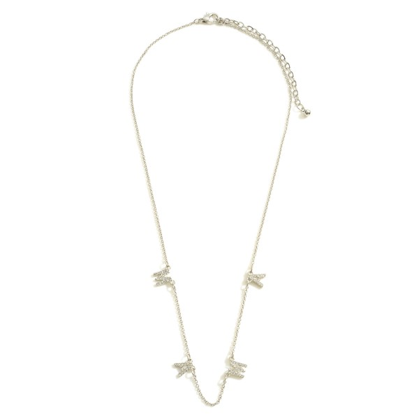"""Mama Necklace featuring CZ Accents.  - Chain 16"""" in Length - Extender 3"""" in Length"""