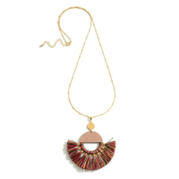 Wholesale long Gold Necklace Tassel Crescent Pendant Extender