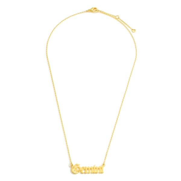 Wholesale gold Dipped Zodiac Necklace Gold Dipped Adjustable Lengths