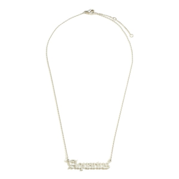 Wholesale white Gold Dipped Zodiac Necklace White Gold Dipped Adjustable Lengths