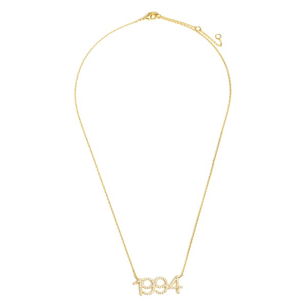 """Gold Dipped 1994 Birth Year Necklace Featuring CZ Accents.  - Gold Dipped - Adjustable Lengths: 15.5"""", 16.5"""", and 17.5"""""""