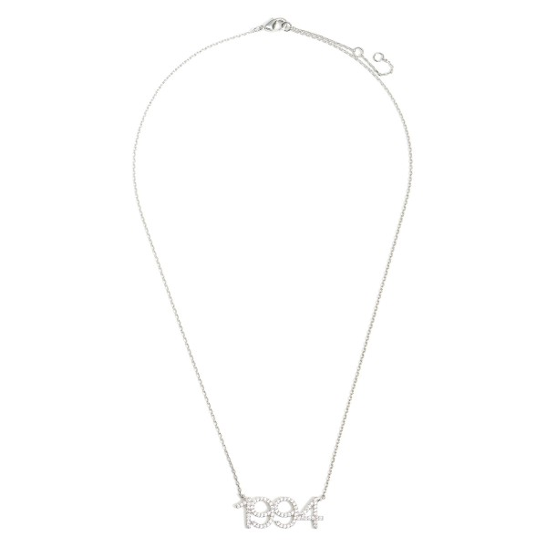 Wholesale white Gold Dipped Birth Year Necklace CZ Accents White Gold Dipped Adj