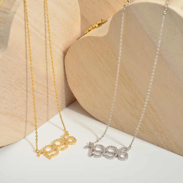 """Gold Dipped 1996 Birth Year Necklace Featuring CZ Accents.  - Gold Dipped - Adjustable Lengths: 15.5"""", 16.5"""", and 17.5"""""""