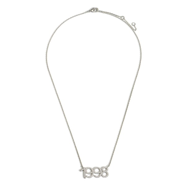 """White Gold Dipped 1998 Birth Year Necklace Featuring CZ Accents.  - White Gold Dipped - Adjustable Lengths: 15.5"""", 16.5"""", and 17.5"""""""