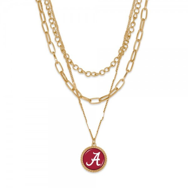"""Alabama Gold Chain Link Charm Bracelet.  - Pendant Approximately 1"""" in Diameter - Necklace Approximately 18.5"""" in Length - Extender Approximately 2.5"""" in Length"""