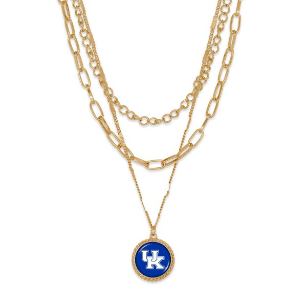 """Kentucky Gold Chain Link Charm Bracelet.  - Pendant Approximately 1"""" in Diameter - Necklace Approximately 18.5"""" in Length - Extender Approximately 2.5"""" in Length"""